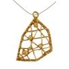 Bronze Pendant Open Weave 23x17mm
